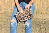 Always Enough Leopard Clutch