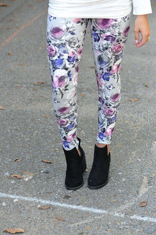 In Full Bloom Floral Print Leggings
