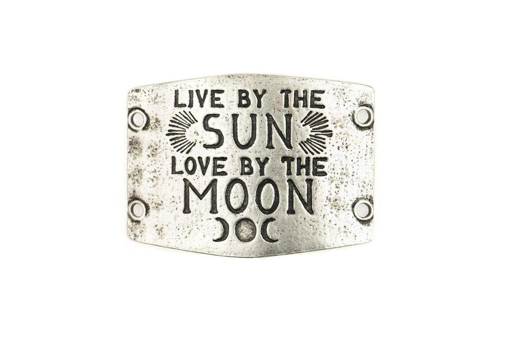 """Live by the Sun Love by the Moon"" Lenny and Eva Large Sentiment"