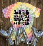 Love Makes the World Go Round Graphic Tee
