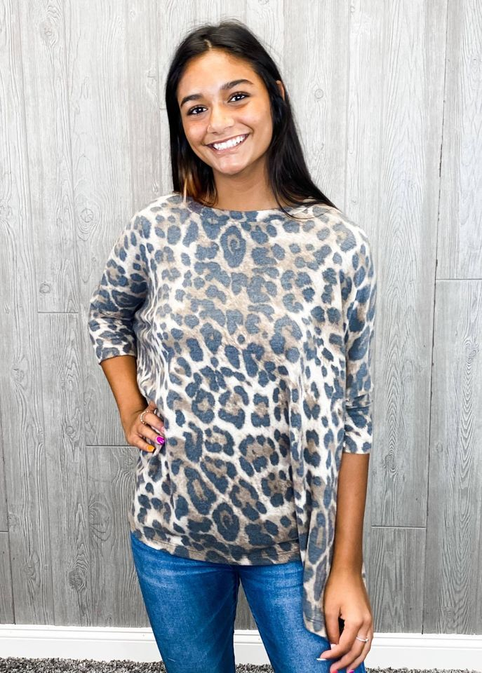 Make You Happy Leopard Top