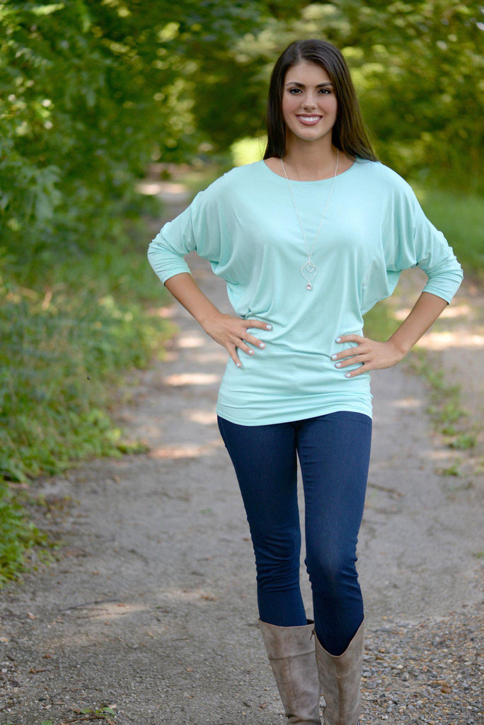 Mint Dolman Top
