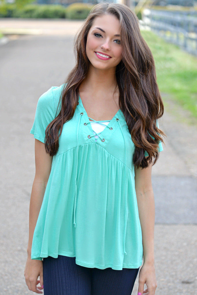 Mint To Be Yours Babydoll Top