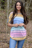 MOST OF MY ATTENTION RAINBOW STRIPE TOP