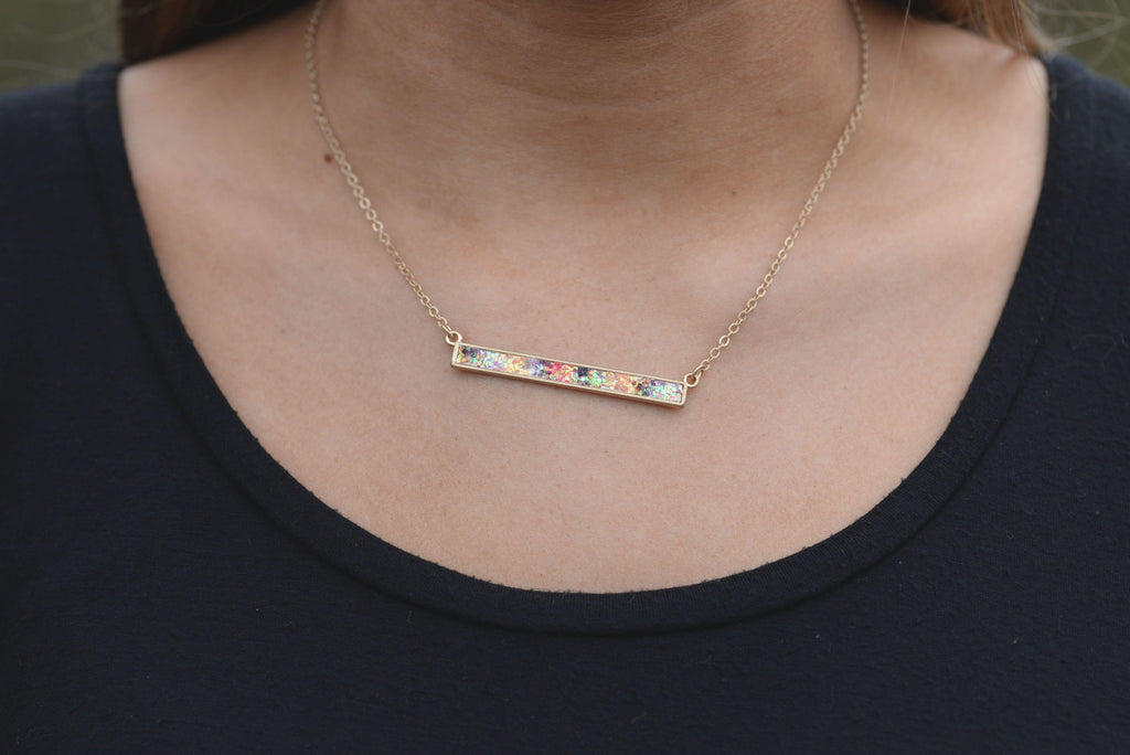 All That Sparkles Bar Necklace