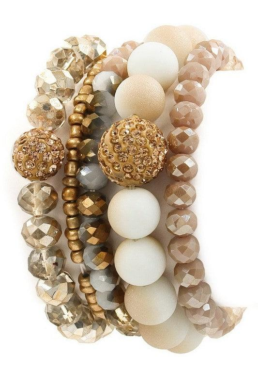 One Wish Bracelet Stack - Nude