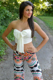 Orange Blossom Yoga Pants