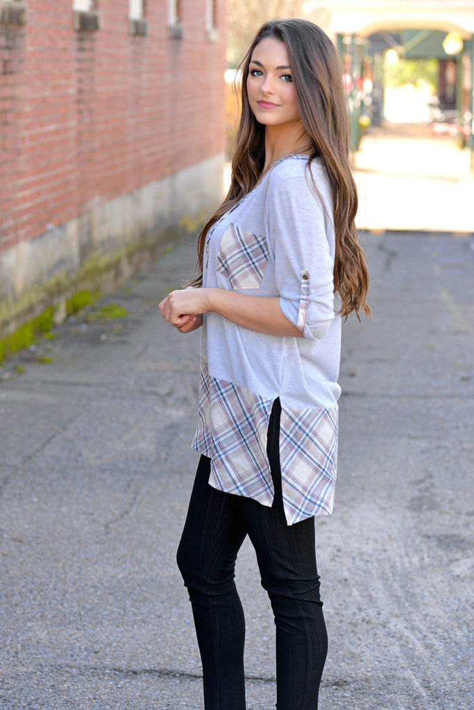 Plaid Attraction Top