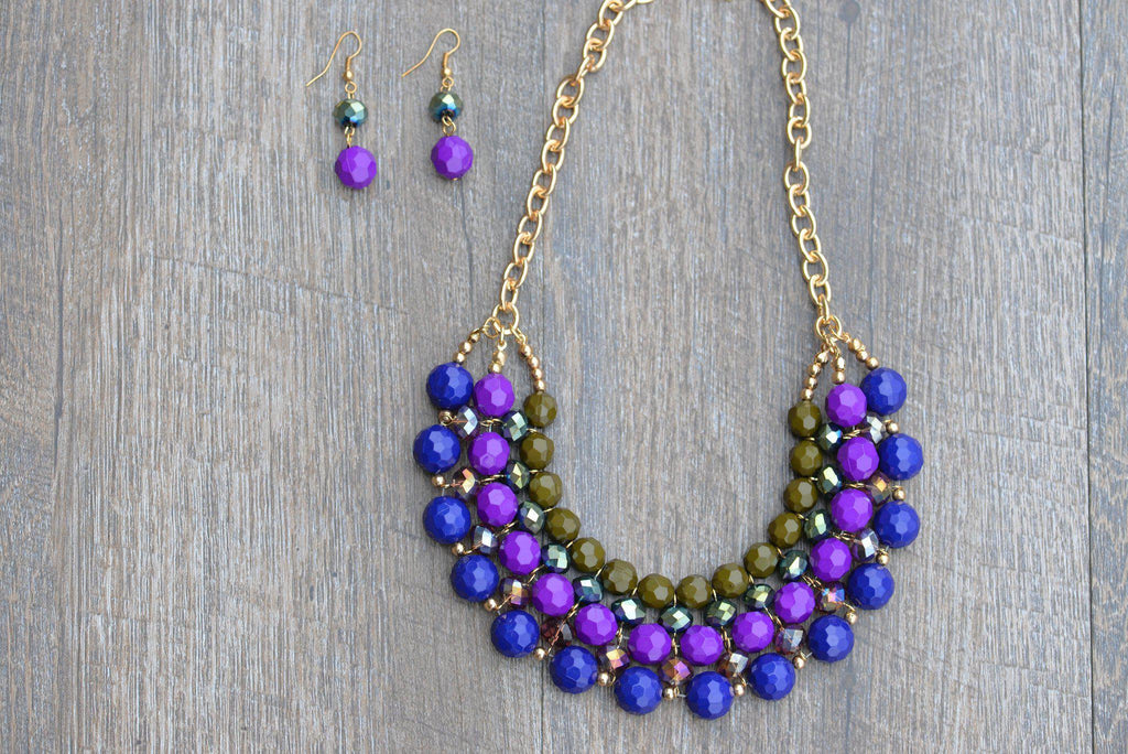 PURPLE REIGN NECKLACE SET