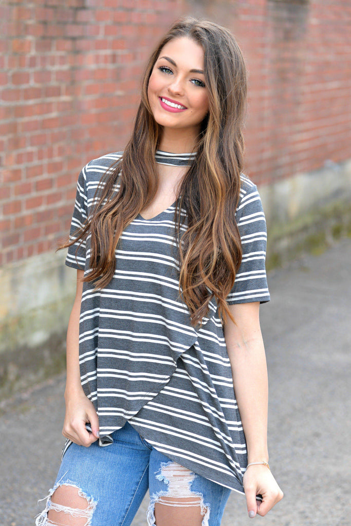 Right To Stripe Top