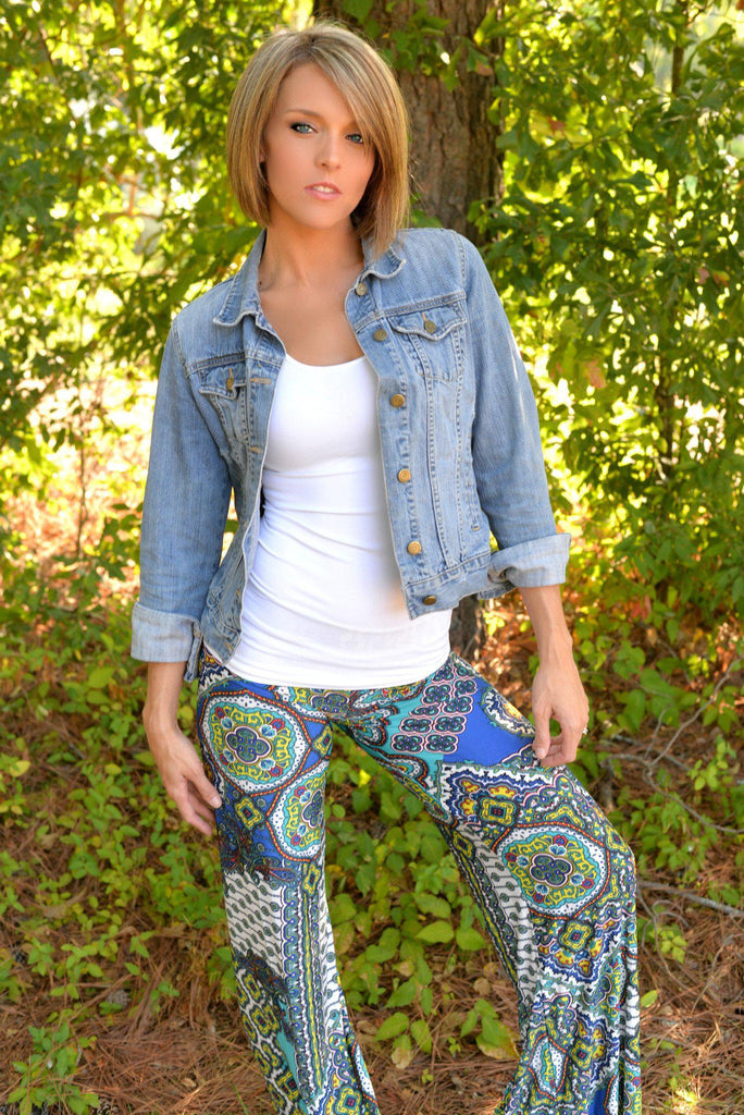 Rustic Soul Blue Yoga Pants