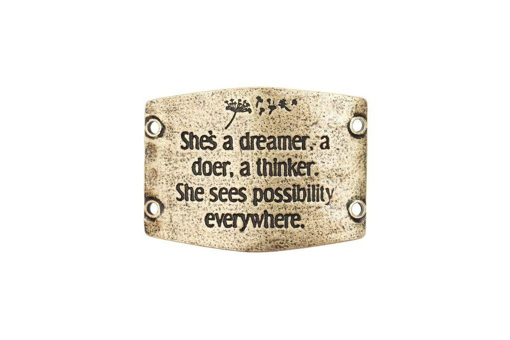"""She's a dreamer, a doer, a thinker. She sees possibility everywhere"" Lenny and Eva Large Sentiment"