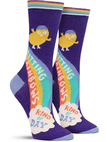 Shitting Rainbows Crew Sock