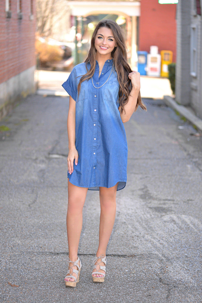 So Over You Denim Dress