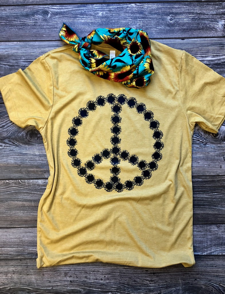 Peace Sunflower Graphic Tee