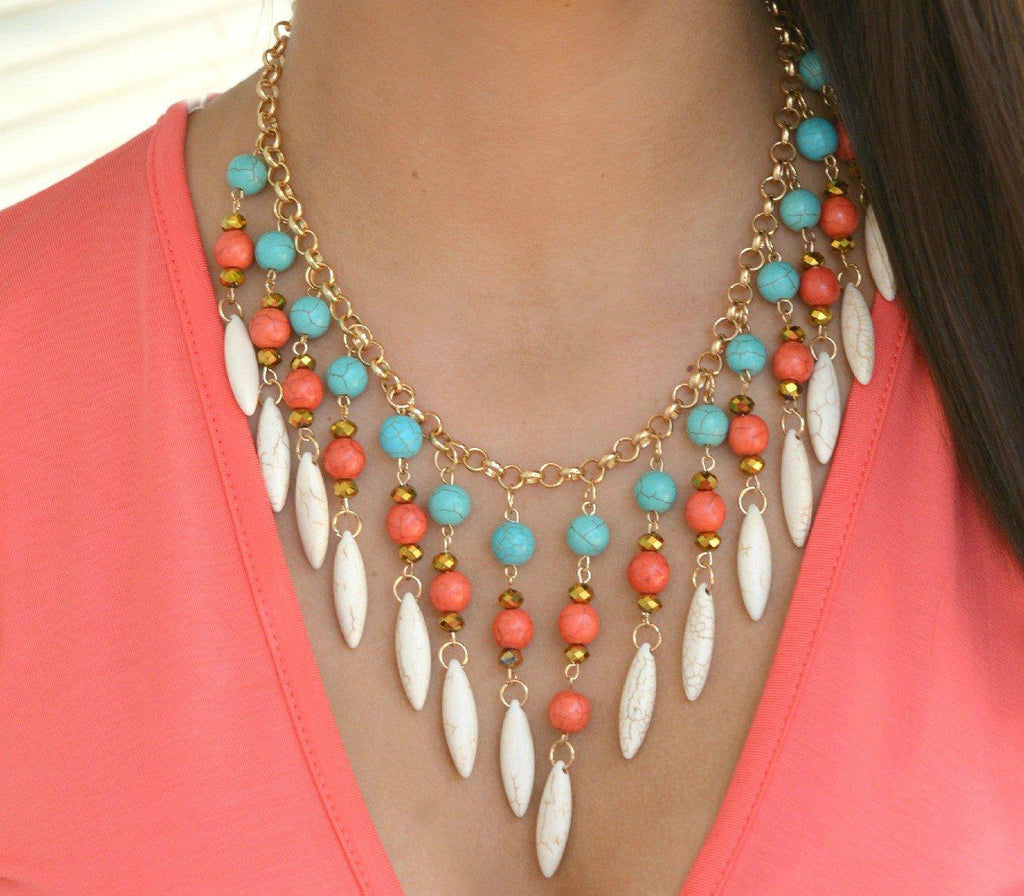 White Bohemian Spirit Necklace