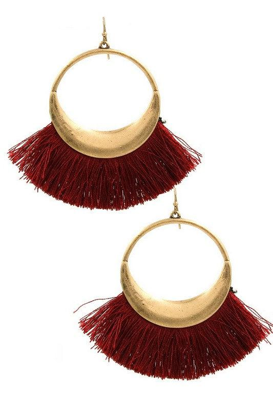 Your Biggest Fan Fringe Earrings