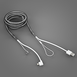 Reinforced Lightning Cable Black
