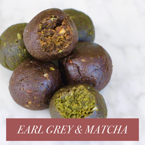 *SEASONAL* Earl Grey & Matcha Mix CLEAN Protein Balls - Box of 10 (GF, Vegan, F45 Approved)