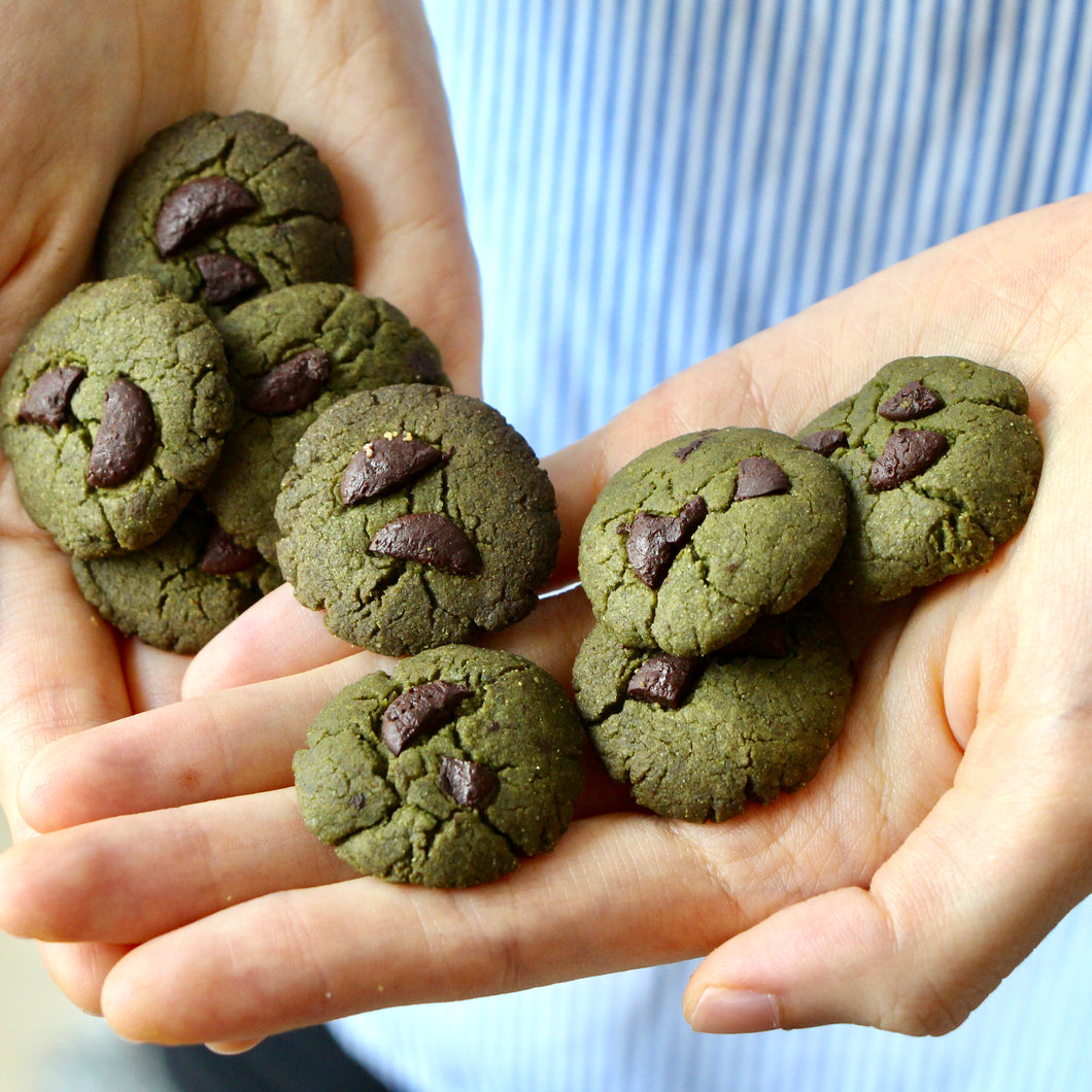 Matcha x 74% Dark Chocolate Bliss Cookies (V, RSF)