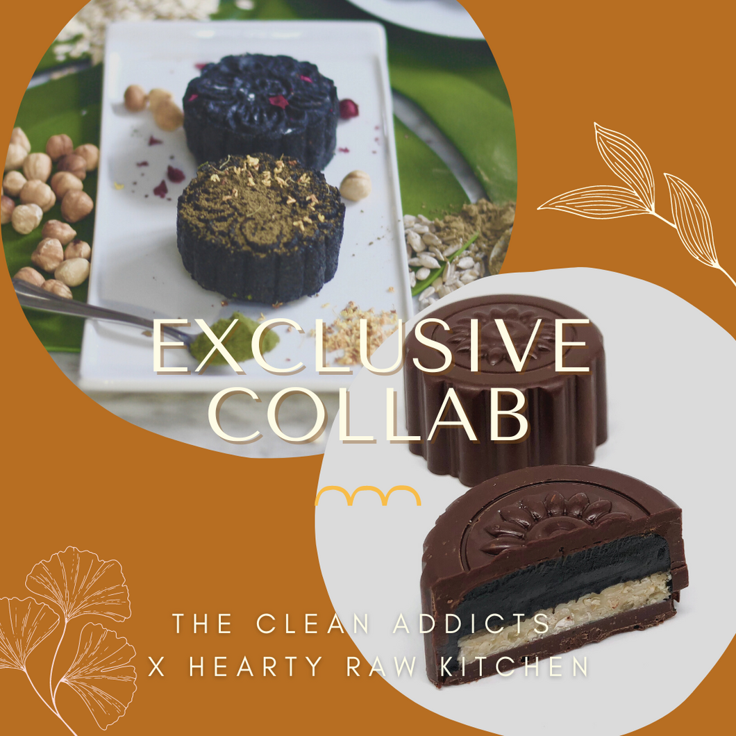 Raw Chefs Collab Special - Mix Box of 4 Raw Vegan Mooncakes (GF, Raw Vegan, Refined Sugar Free)