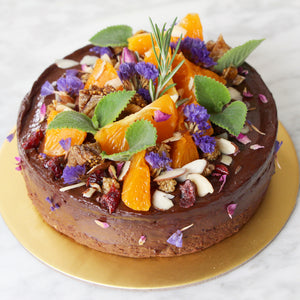 """Garden of Eden"" Flourless Cacao Fudge Cake (GF, V, RSF)"