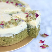 Load image into Gallery viewer, *LIMITED QUANTITIES* Matcha x Durian Paradise Fudge Cake (GF, V, RSF)