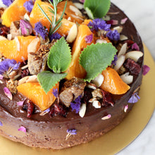 "Load image into Gallery viewer, ""Garden of Eden"" Flourless Cacao Fudge Cake (GF, V, RSF)"