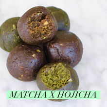 Load image into Gallery viewer, *SEASONAL* Hojicha & Matcha CLEAN Protein Balls - Box of 10 (GF, Vegan, F45 Approved)