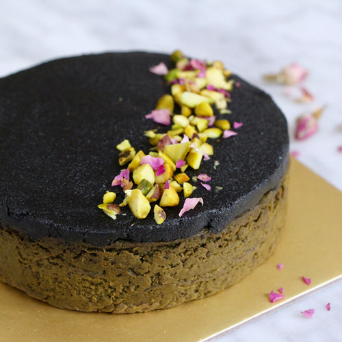 vegan matcha cake black sesame healthy diabetic friendly