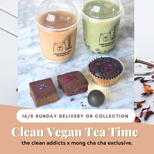 16/8  - TCA x MCC CLEAN Vegan Tea Time Collab (GF, Vegan, Refined Sugar Free)