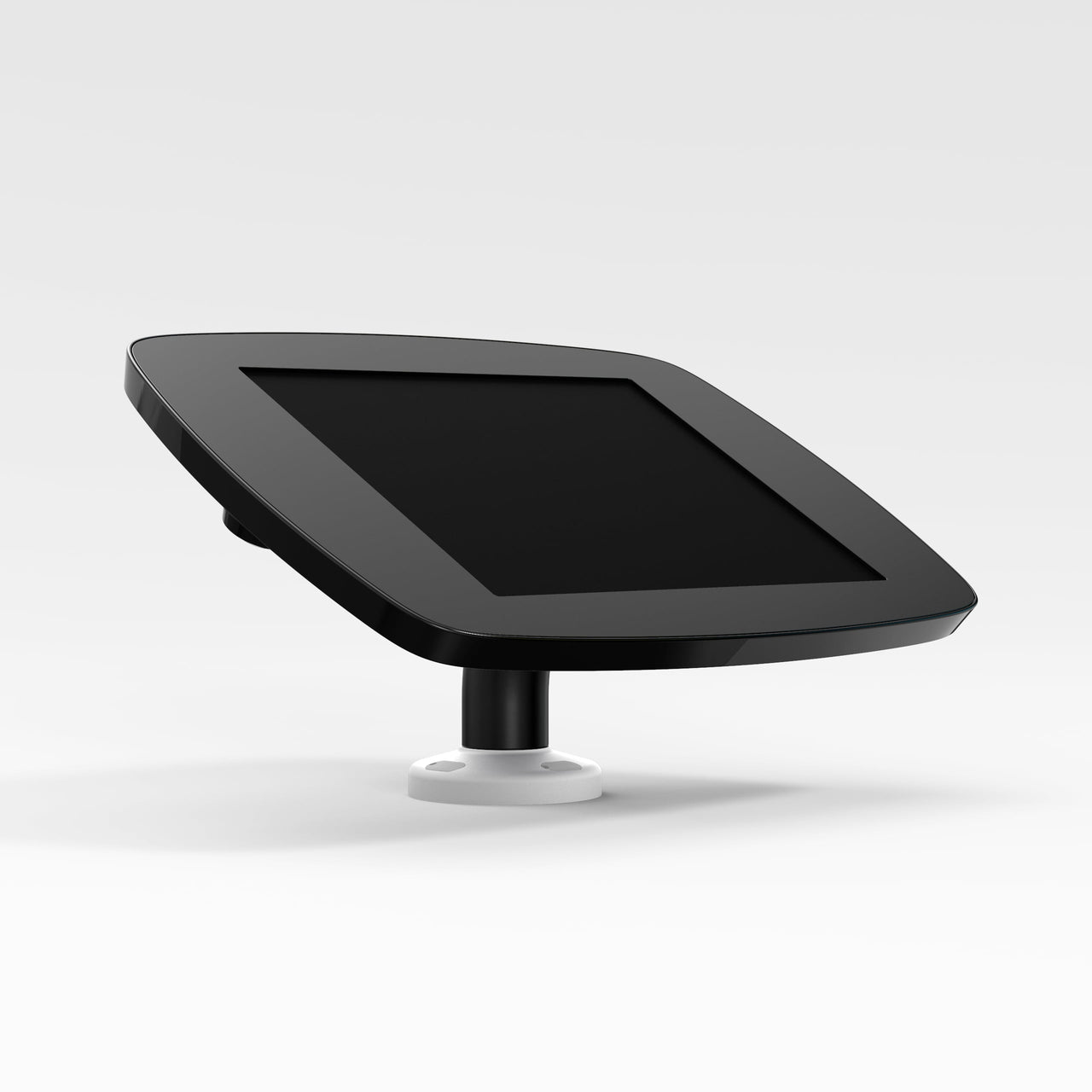 Bouncepad Swivel Desk - A secure rotating tablet & iPad desk mount in black.