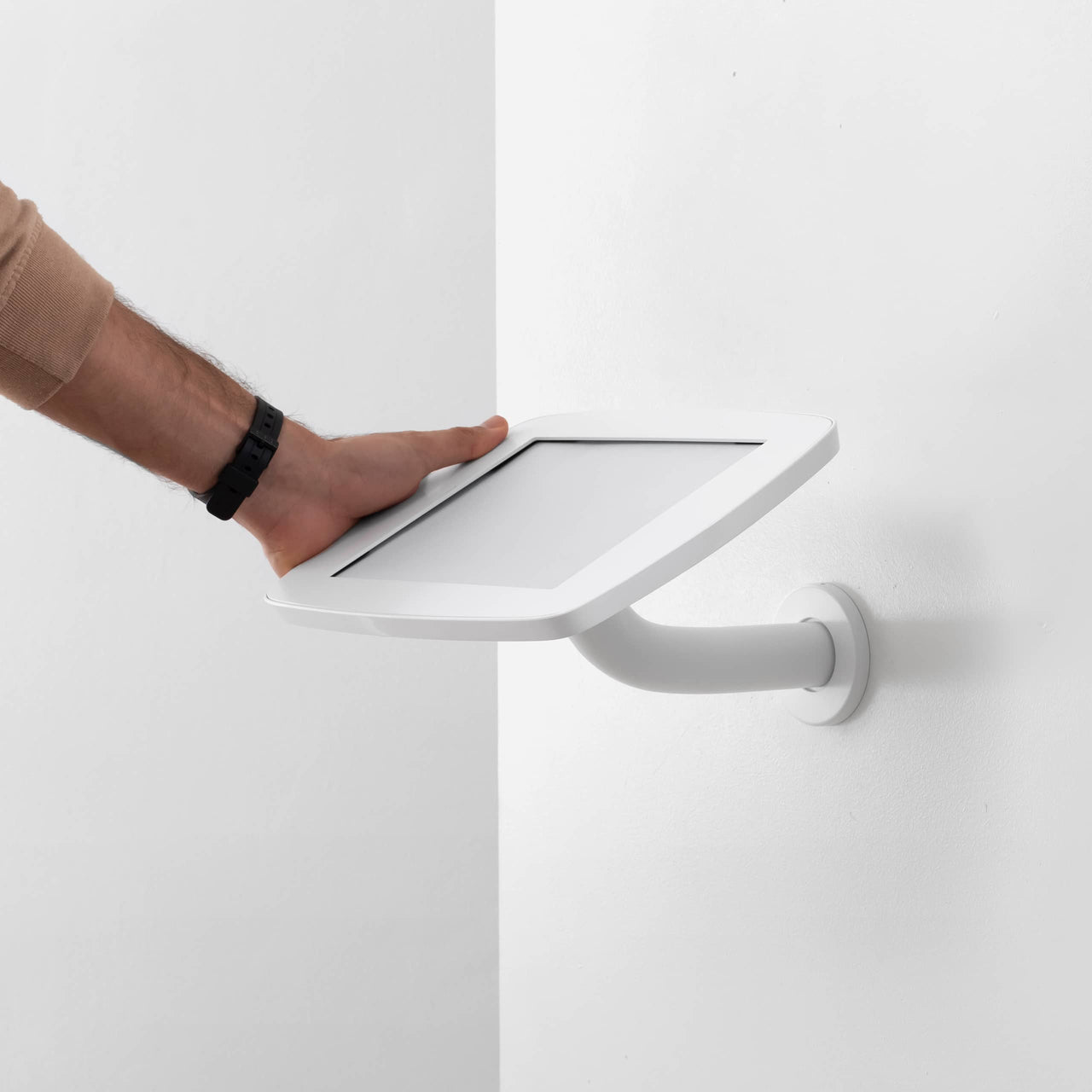 Bouncepad Branch- A secure tablet & iPad wall mount in White.