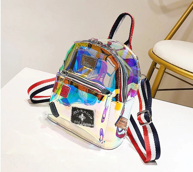 Women Transparent and Multicolored Backpack