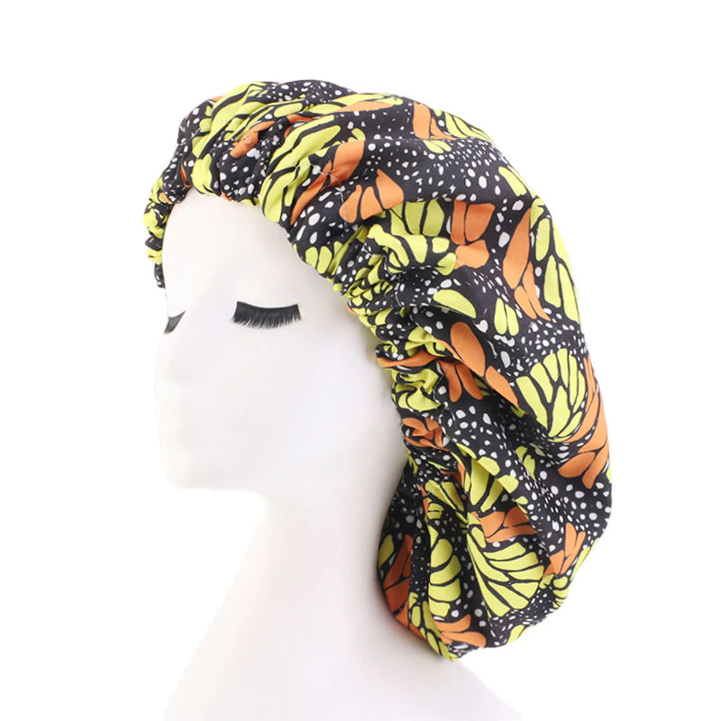 Pattern Print Satin Lined Bonnets