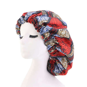 African Pattern Print Satin Lined Bonnets