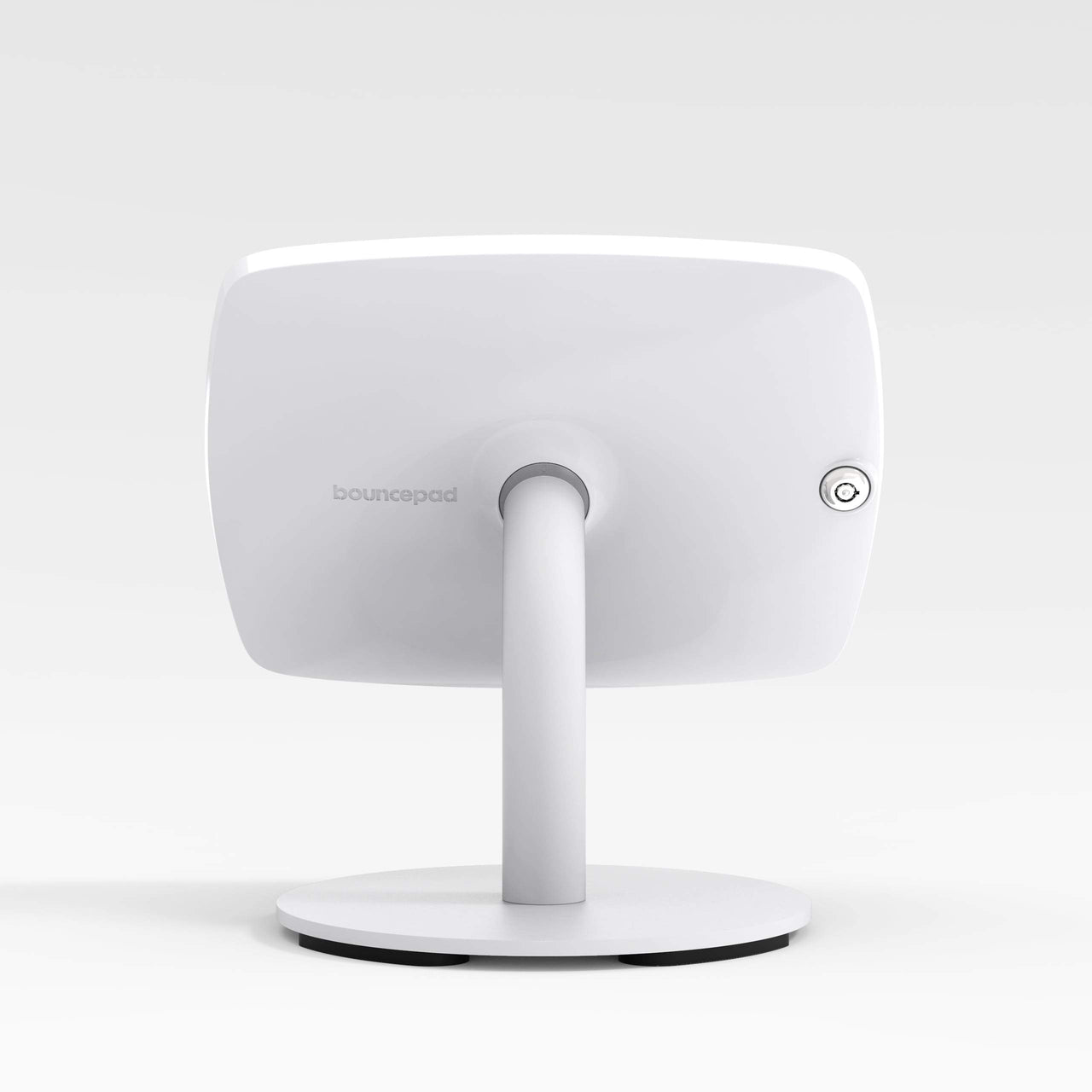 Bouncepad Counter 60 - A secure tablet & iPad tablet stand in white.