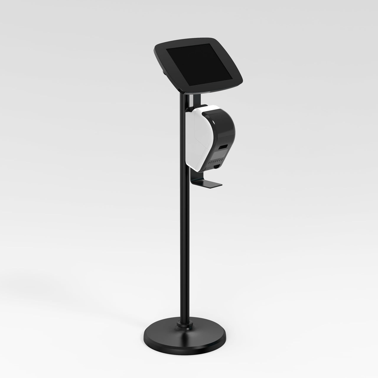 Bouncepad Floorstanding Brother - A secure tablet & iPad floor stand in black.