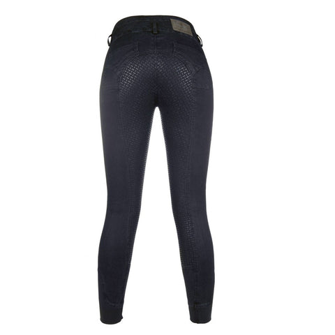 Riding breeches -Velluto Jeans- 3/4 silicone seat Art. No.: 10388