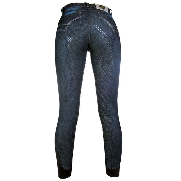 Riding breeches -Limoni denim- silicone full seat Art. No.: 10976