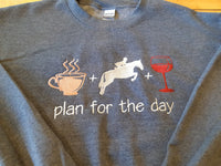 Plan for the day-Gildan Heavy Blend Crewneck Sweatshirts-1801