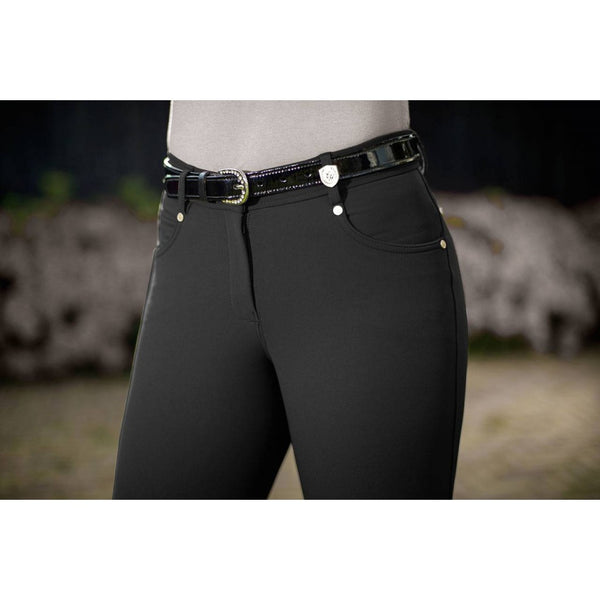 Riding breeches -LG Basic- silicone knee patch 8926