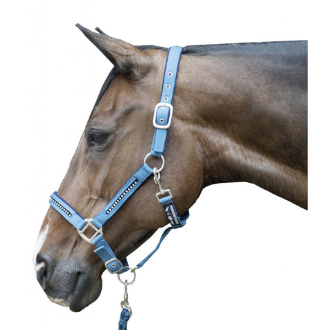 Head collar & lead rope set -Crystal- soft padded Art. No.: 8978