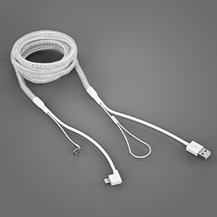 Reinforced Lightning Cable White