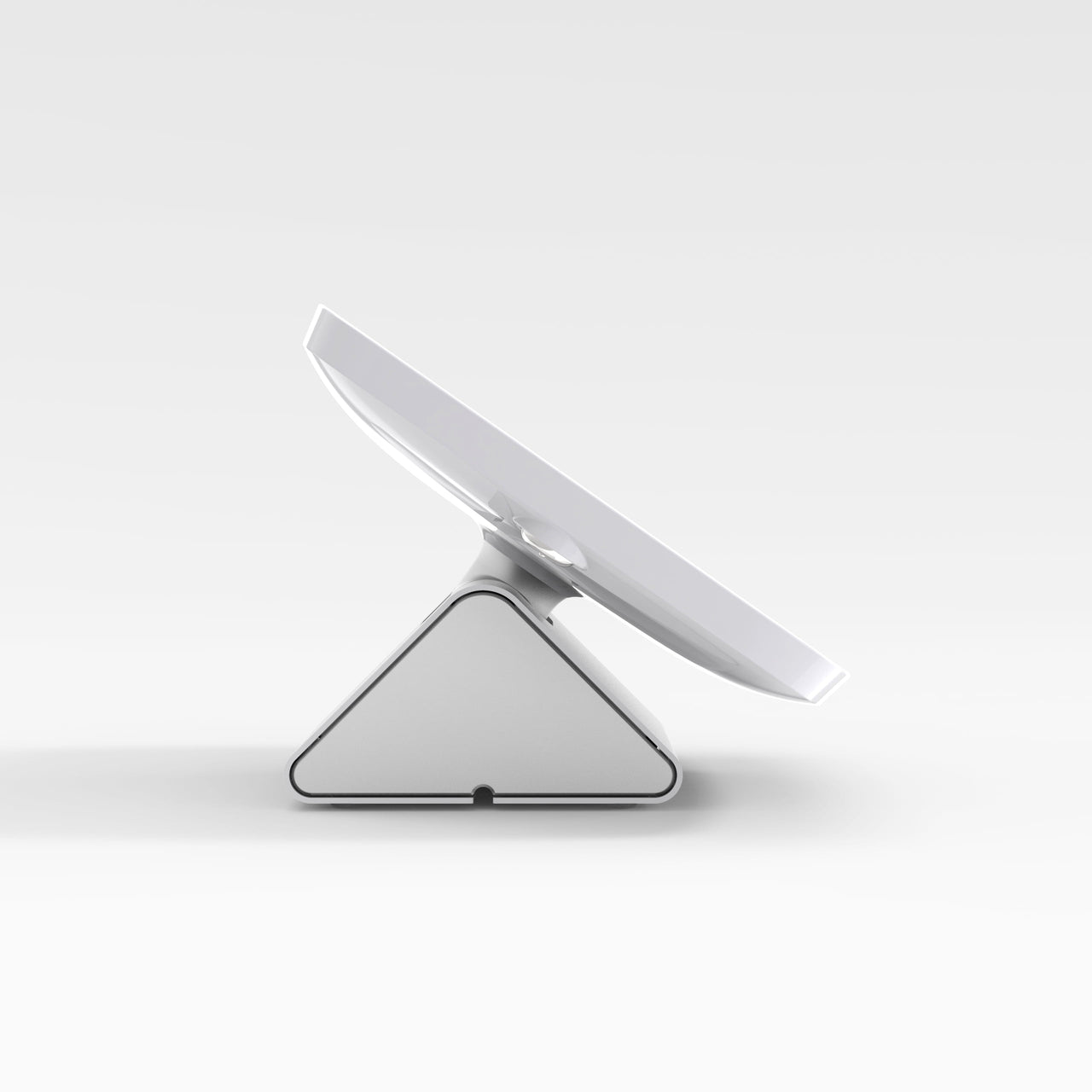 Bouncepad Flip - A secure tablet & iPad POS stand in white.