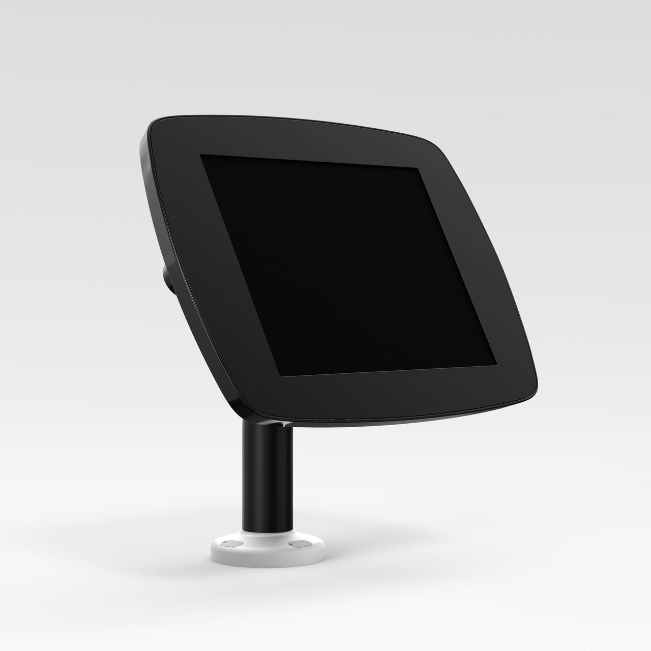 Bouncepad Swivel 60 - A secure tablet & iPad desk mount in black.