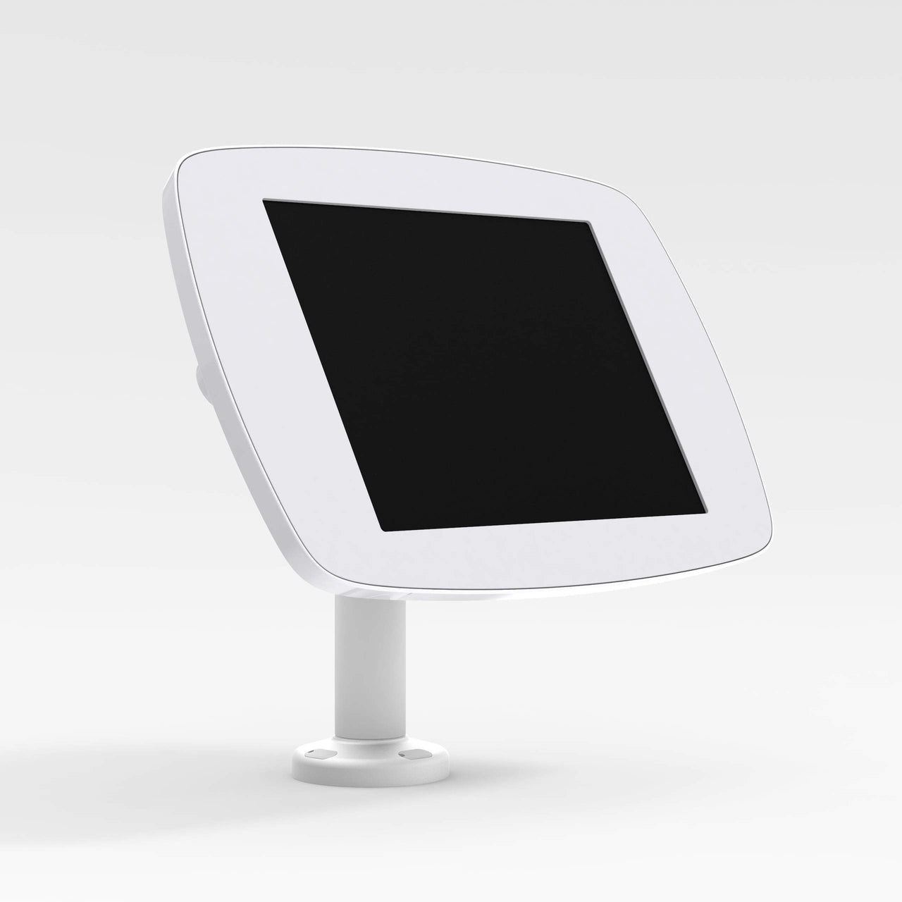 Bouncepad Swivel 60 - A secure tablet & iPad desk mount in white.