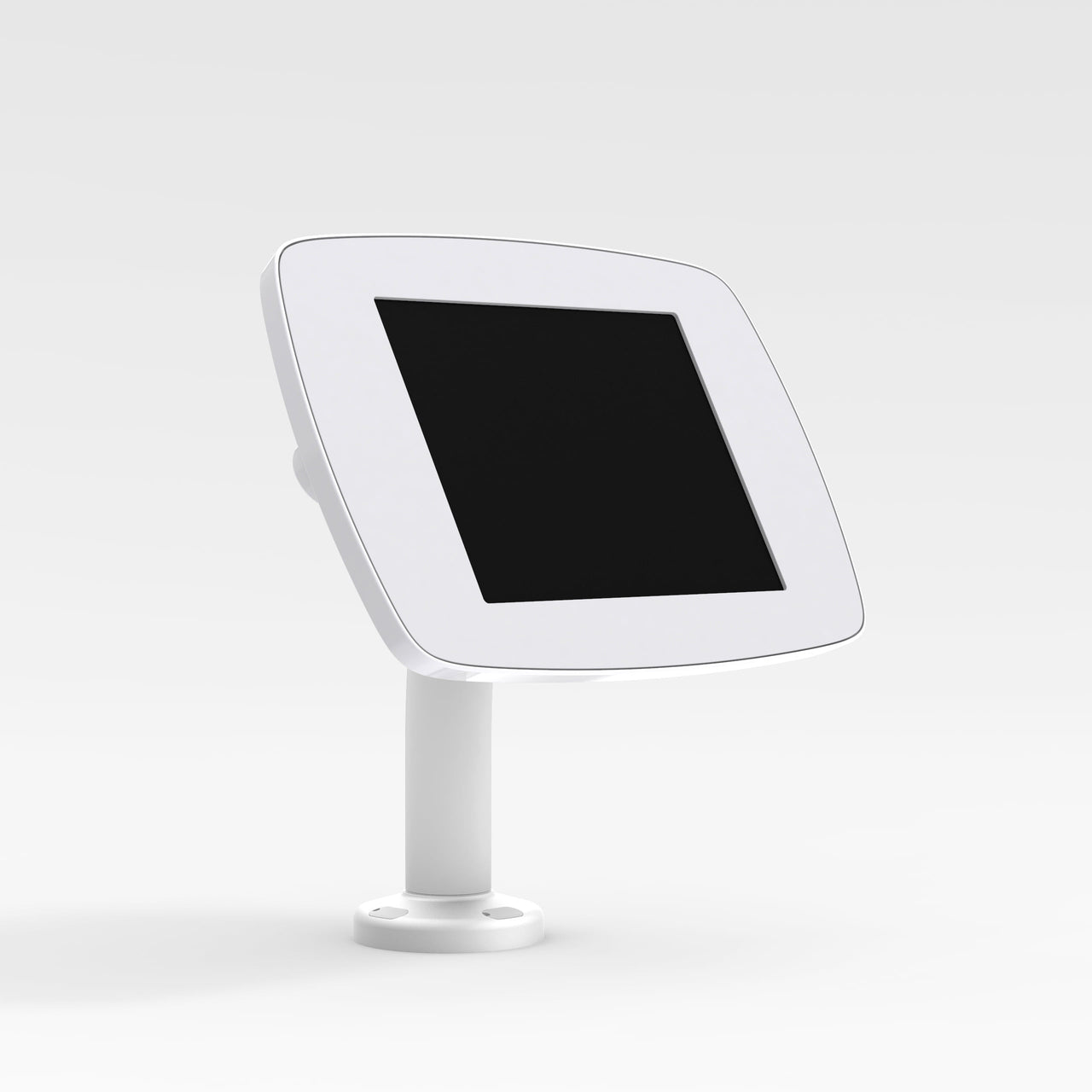 Bouncepad Static 60 - A secure tablet & iPad desk mount in white.