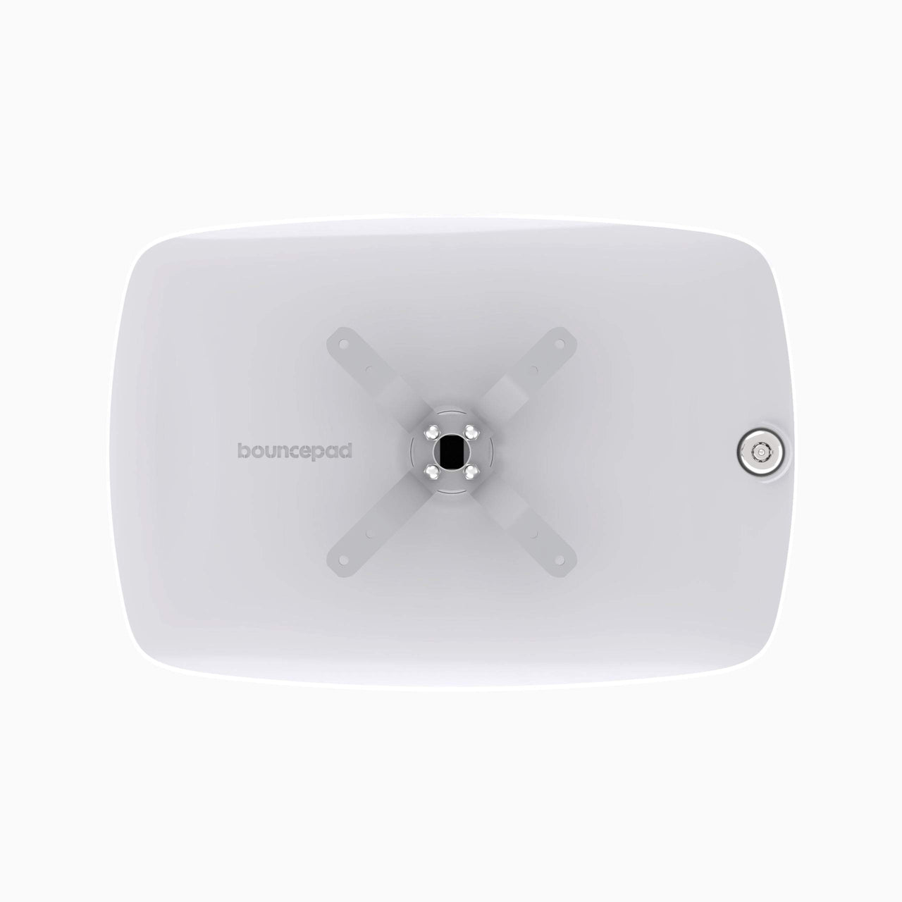 Bouncepad Vesa - A secure tablet & iPad vesa mount in white.