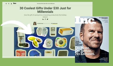 Inc. Magazine Top 30 Coolest Gifts for Millennials Food Huggers